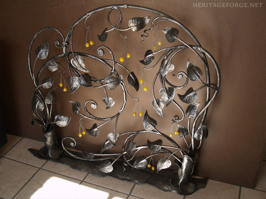 Hand forge custom Fire screen