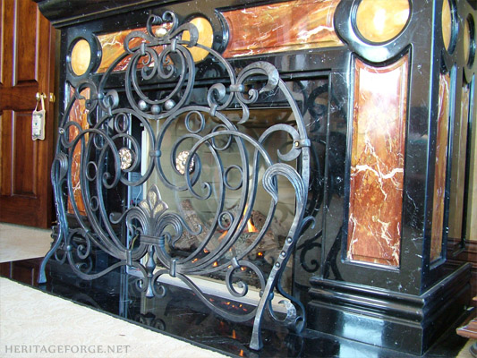 Hand- crafted fireplace screen