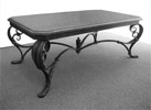 Hand - crafted metal table Neoclassic
