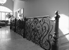 Custom, metal railing