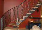 Metal stair and railing