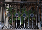 Custom railing with glass